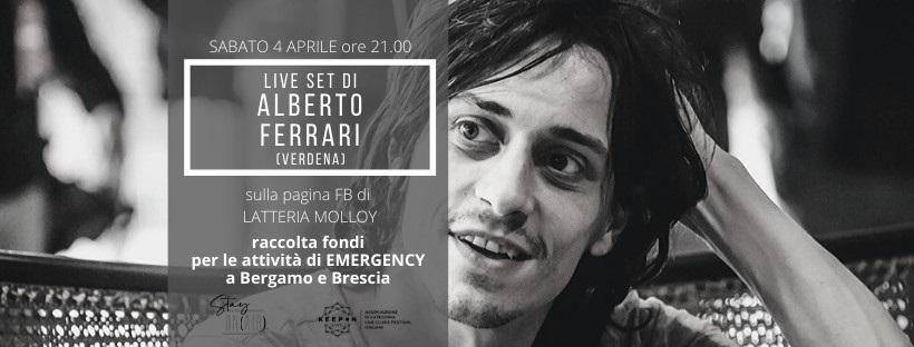 Alberto Ferrari dei Verdena, live per Emergency