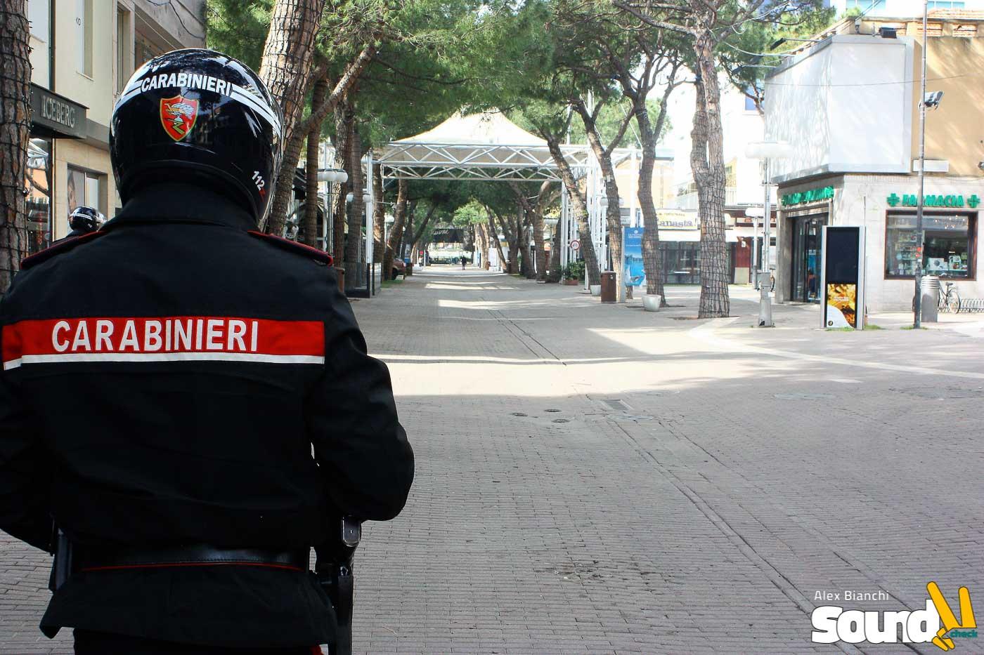 Lockdown e Coronavirus, una giornata con i Carabinieri di Riccione