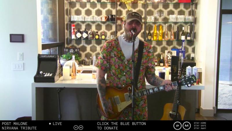Post Malone, il video del concerto tributo ai Nirvana