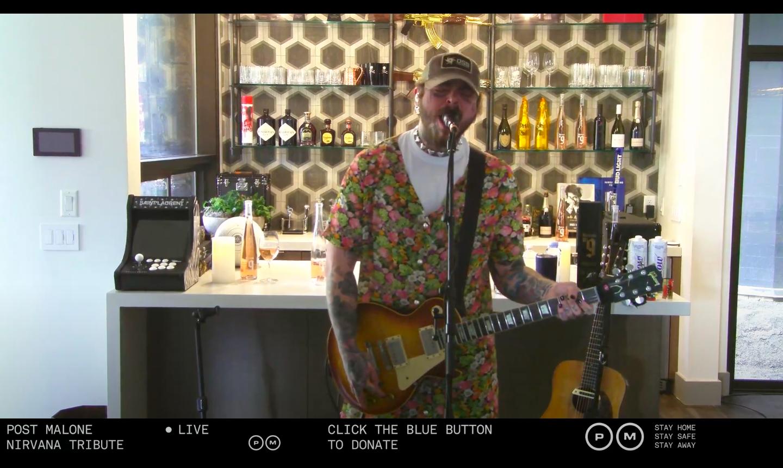 Post Malone Plays Nirvana è un'indimenticabile esperienza dei live da quarantena