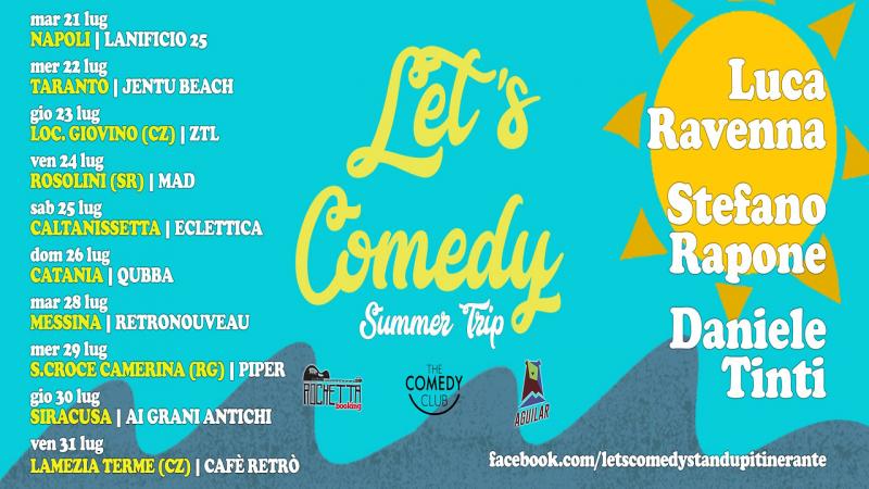 Stand up comedy Summer Trip con Ravenna, Rapone e Tinti
