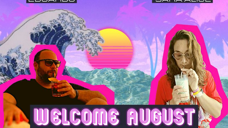 welcome august Edo e Sara in un ambiente vapoerwave