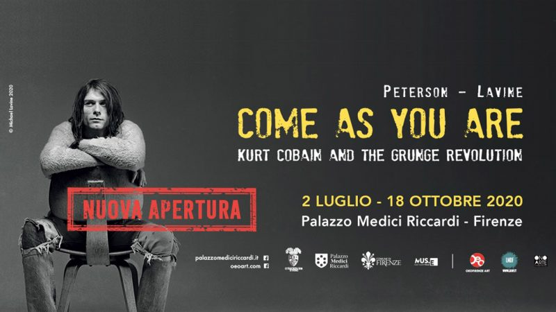 come as you are mostra fotografica kurt cobain e nirvana - banner